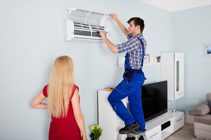 Work with Accuracy and Precision AC Maintenance Dubai