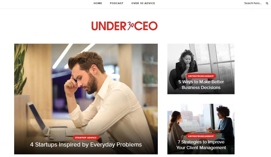 Under 30 CEO Theforbiz