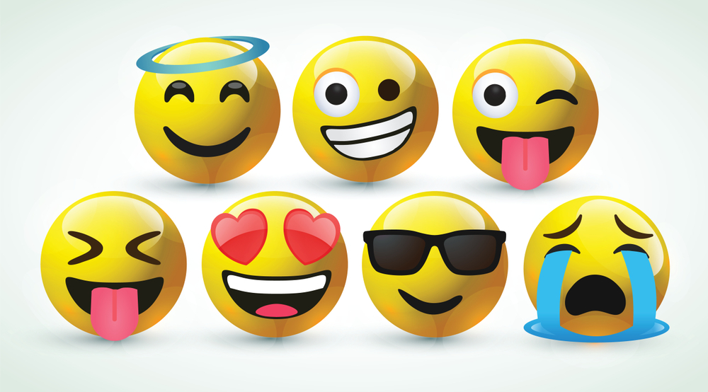 Text and emoticons on demand